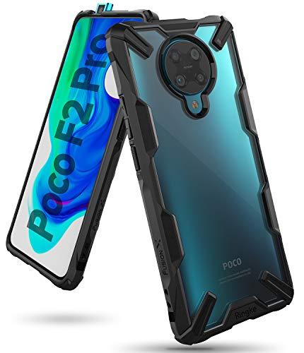 Ringke Fusion-X Kompatibel mit Xiaomi Poco F2 Pro Hülle Transparent Rückseite mit Verbesserter TPU Silikon Rahmen Schutz - Schwarz