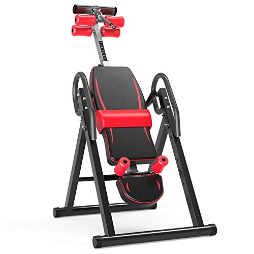 inChengGouFouX Ajuste Flexible Tabla de la inversión Gravedad for Trabajos Pesados con reposacabezas Ajustable cinturón de Nuevo Camilla Máquina Máquina Invertida para Fitness ⭐