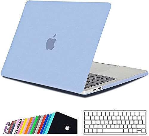 iNeseon Funda MacBook Pro 13 (A2159 A1989 A1706 A1708),Carcasa Delgado Case Duro y Cubierta del Teclado Transparente para 2019/2018/2017/2016 MacBook Pro 13 Pulgadas con/sin Touch Bar, Cielo Azul