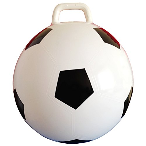 AppleRound Space Hopper Ball with Air Pump: 20in / 50cm Diameter for Ages 7-9, Hop Ball, Kangaroo Bouncer, Hoppity Hop, Jumping Ball, Sit and Bounce