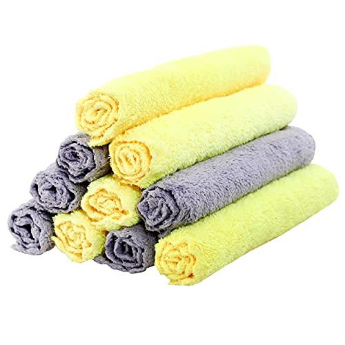 10 paños de limpieza premium para bebés – 0% pelusa – Ropa extra absorbente y suave para recién nacidos, bebés y niños pequeños – Adecuado para pieles sensibles y recién nacidos – Baby Shower – 8 x 8 pulgadas