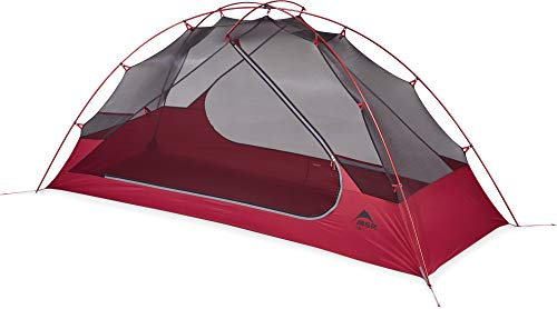MSR Unisex's zoic Person Lightweight mesh Backpacking Tent with rainfly, Red, 1