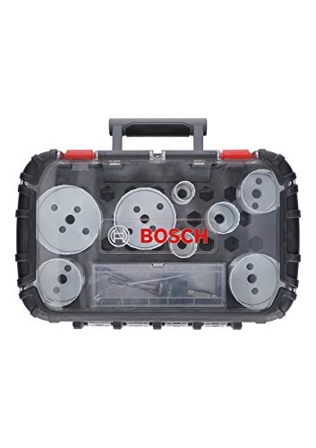 Bosch 2608594194 11-Piece Set Electricians Set Bi-Metal Hole Saws 8% Cobalt Alloy Diameter 25, 32, 40, 54, 60, 68, 76, 86 mm