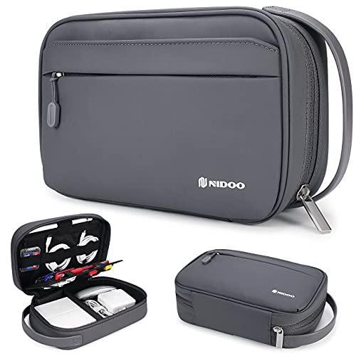NIDOO Elektronische Tasche, Tragbare Reise Multifunktion Kabeltasche, Wasserdichtes Elektronik Zubehör Universaltasche für Festplatten, SD Karten, Powerbank, Adapter, Handy, iPad, Kindle, USB, Airpods