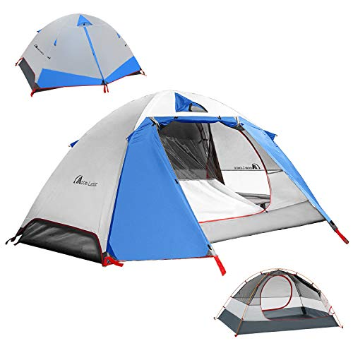 MOON LENCE Camping Tent 1 and 2 Person Backpacking Tent Double Layer...
