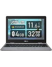 ASUS Chromebook クロームブック C223NA ノートパソコン(Celeron N3350 / 4GB / 32GB / 11.6型 / 999グラム / 日本語キーボード / グレー)C223NA-GJ0018 シルバー グーグル Google