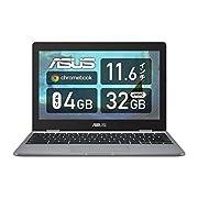 Chromebookとは、Chrome OSを搭載した簡単で高速起動のパソコンです。Office:なし ※製品の画像は英字キーボード版ですが、実際の製品は日本語キーボードモデルです。 【OS 】Chrome OS【カラー】グレー【サイズ】幅286mm×奥行き199mm×高さ17.25mm/重量:約999g 【CPU】インテル Celeron プロセッサー N3350【メモリ】4GB 【ストレージ】32GB 【ディスプレイ】11.6型ワイドTFTカラー液晶 / ノングレア / 1,366×768【...