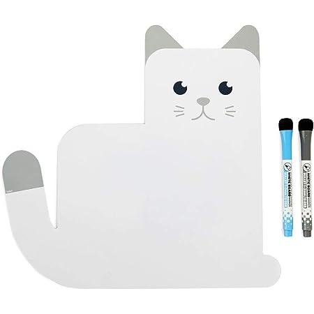 Balvi Pizarra Nevera magnética Meow! Color Blanca Original Pizarra de Planificación Ideal para recordatorios, Lista de la Compra, tareas del hogar y Notas Importantes Plástico PP 31,5x33x0,6 cm
