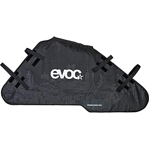 EVOC PADDED BIKE RUG Fahrrad Transportschutz Abstandshalter (gepolsterter Transportschutz, Schutz für Fahrradrahmen und Laufräder, Schmutzschutz, für eine Vielzahl von Fahrradtypen geeignet), Schwarz