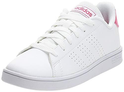 adidas Advantage K, Chaussures de Tennis, Blanc (Ftwbla/Rosrea/Ftwbla 000), 33 EU