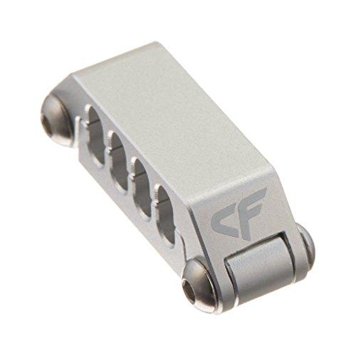 Preisvergleich Produktbild Nanoxia 900500420 Coolforce Kabelclip CC-8,  Für Kabel Mit Acht Einzelnd Gesleevten Kabelsträngen,  Aluminium