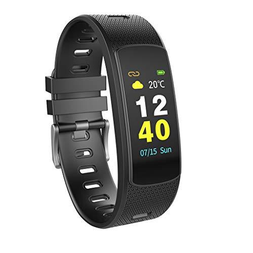 Fitness Smart Watch, I6 HR C Smart-Armband Herzfrequenz-Tracker Sport Smart-Armband-Farb-LCD Band Fitness-Monitor Tracker I6HRC Armband Uhr,Schwarz