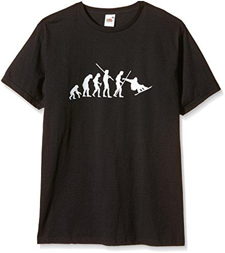Coole-Fun-T-Shirts T-Shirt SNOWBOARD Evolution Slimfit, schwarz, L, 10718_SCH-SLIMFIT_GR.L