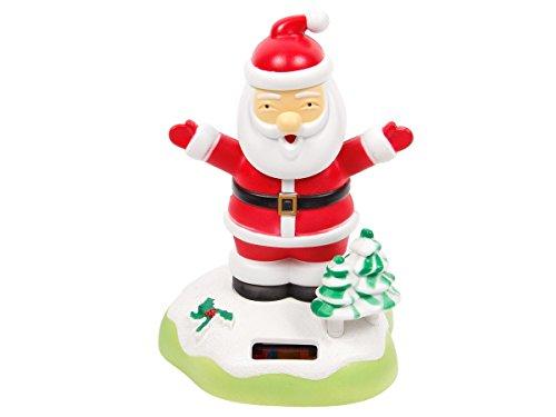 'Figurine Père Noël se balance à l''énergie solaire type Nohohon Santa Christmas rouge et blanc balancier differents figures pions deco voiture maison terrasse jardin jouet cadeau décoratif original pour enfant fille garcon adulte homme, choisir:SB-22 le père noël 13x9cm'