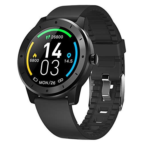 LTLGHY Smartwatch, GPS Reloj Inteligente Impermeable IP68 con Monitor De Sueño Pulsómetros Cronómetros Contador De Caloría, Pulsera De Actividad Inteligente para Android E iOS,Negro