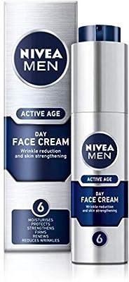 NIVEA MEN Active Age Face Moisturiser (50ml), Anti Ageing Face Cream, Face Moisturiser for Dry Skin, Moisturiser for Men Firms Skin and Reduces Wrinkles