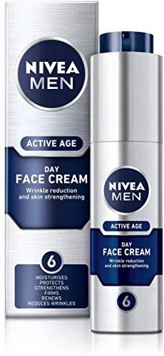 NIVEA MEN Active Age Face Moisturiser (50ml), Anti Ageing Face Cream, Face...