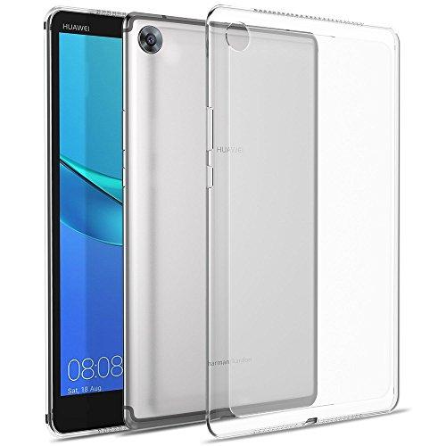 REY - Cover in Gel TPU Trasparente per Huawei MEDIAPAD M5 8.4 , Ultra Sottile 0,33 mm, Morbido Flessibile, Custodia Silicone