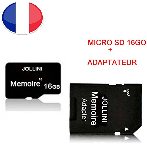 Jollini® Micro-SD-geheugenkaart 16 GB Class 10 + SD-adapter voor Kyocera DuraForce XD