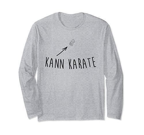 Kleines Hühnchen Küken kann Karate Underdog Fun Langarmshirt