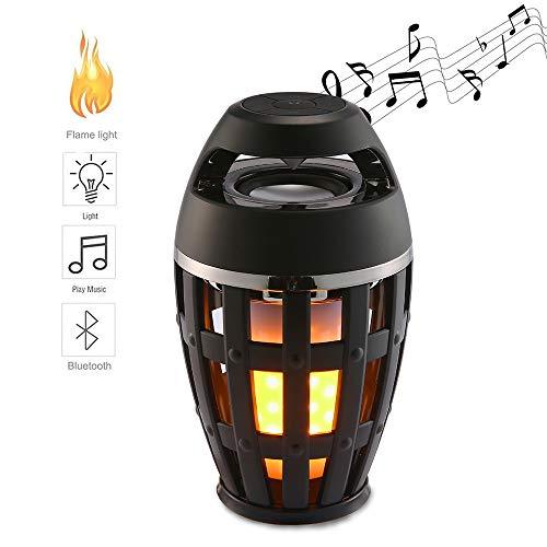 Altavoz Bluetooth Led Luces De Llama, Atmósfera De La Antorcha Altavoz Estéreo Portátil Al Aire Libre con Audio HD Y Bajo Mejorado, Le Dan Una Noche Romántica Y Un Regalo Maravilloso