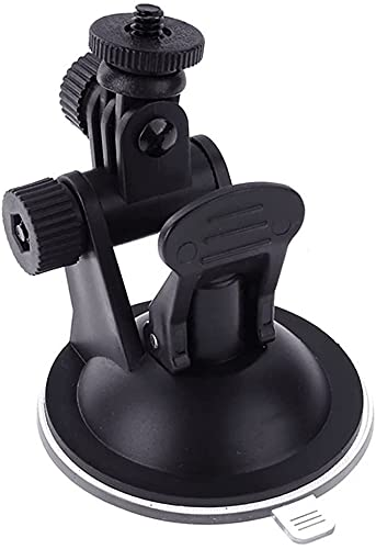 tesss 車載ホルダー 吸盤 ベース ドライブレコーダー アクションカメラ Gopro適用 デジカメ サクションカップ 1/4ネジ 角度調整 マウント ホルダー 取付ブラケット