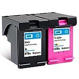 SXCD Cartuchos de Tinta 678XL para HP, reemplazo para HP DeskJet Ink Advantage 1516 1518 J2310 J2510 3510 3515 4518 4645 Impresora de inyección de Tinta Compatible Tri-CO Combination