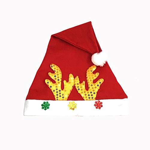 FFSMCQ Cartoon Leuke Elk Antlers Baby Kerstmis Hoed Volwassen Persoonlijkheid Boog Decoratie Hoed Kerstmis Muts Decoratie Familie Vakantie Feestartikelen