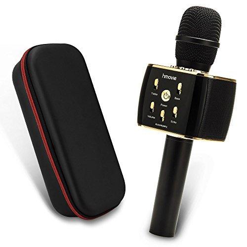 Dual Sing Duet Version Wireless Karaoke Microphone 12w Hi-Fi Bluetooth Speaker Player for iPhone Android Smartphone, 2019 Upgraded Bluetooth Karaoke Machine