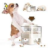 WeChip alimentatore per cani,alimentatore lento per cani,multifunzionale distributore cibo per cani e gatti automatico,alimentatore puzzle per animali domestici(bianca).