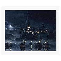 ハリーポッター Harry Potter DIYキャンバスデジタル絵画、ナンバーキットによる大人の初心者ペイント、芸術品や工芸品の屋内壁の装飾、減圧おもちゃゲーム-フレームなし57 * 47cm