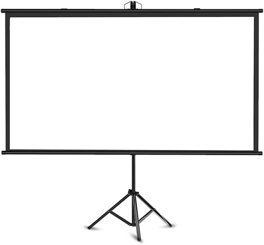 Projection Screen Simple 60 Inch 16:9 Home Floor Mobile Stand Screen Manual Roller Blind Screen in Bedroom Home Theater