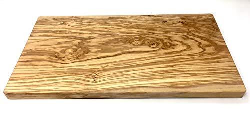 bagusto Tagliere in Legno d\'ulivo Fatto a Mano a Maiorca Tavola di Legno Tagliere Tavola da Cucina Tavola di Carne Tavola da Intaglio Tavola da Portata Varie Misure (45x25x2cm)