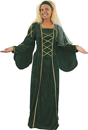 I LOVE FANCY DRESS LTD Disfraz DE Reina Verde para Mujer Estilo DINASTIA Tudor COSTUMA Medieval (ST)