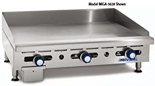 Imperial Commercial Griddle Manually Controlled 3 Burners 36