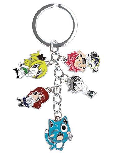 CoolChange Porte-clés de Fairy Tail avec 5 Figurines Chibi