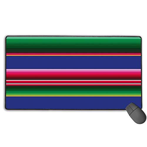 Office Desk Pad Große wasserdichte neuartige Bunte mexikanische Decke Streifen Mauspad Multifunktions-Verwendung Schreibtisch Schreibmatte Laptop Tastatur Mauspad für Büro/Zuhause (15,7 x 29,5 Zoll)