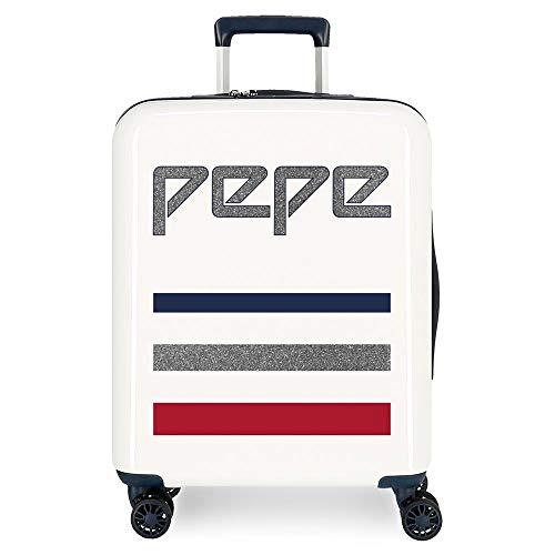 Pepe Jeans Taking off Maleta de cabina Beige 38x55x20 cms Rígida ABS Cierre TSA 38.4L 2,9Kgs 4 Ruedas dobles Equipaje de Mano