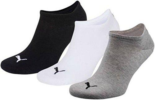 PUMA Unisex Invisible Sneaker Socken 12er Pack, Gr.-43/46, Schwarz/Weiß/grau