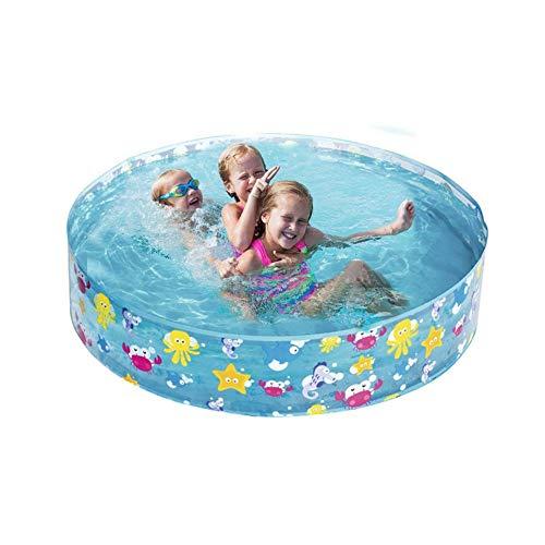 HFKL Aufblasbares Pool New 122x25CM Schwimmbad Planschbecken Tragbare Swimmingpool Kinder Container Badewanne Schwimmbad