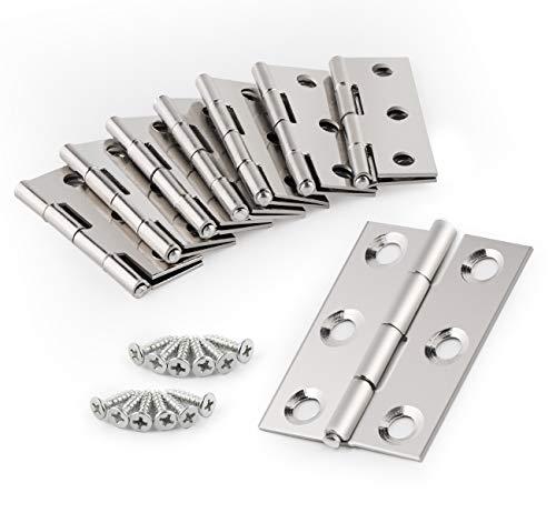 Anstore Edelstahl Scharniere Steckverbinder für Fenster Schrank - 20ST (Silber)