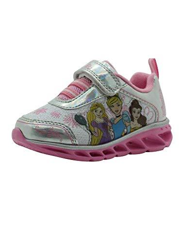 Amazon Essentials Kids' Athletic Sneaker, Grey/Pink, 8 Medium US Toddler