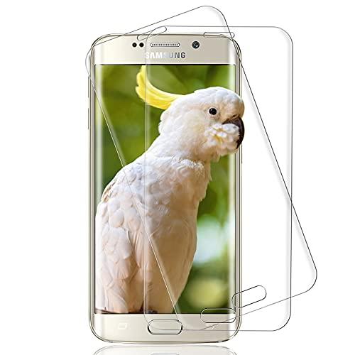 [2 pezzi] Vetro temperato per Samsung Galaxy S6 Edge, 3D Copertura completa, 9H-Durezza, Anti-bolle, HD Clear, Pellicola Protettiva per Samsung Galaxy S6 Edge - Trasparente