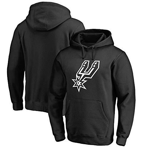 BMSD Camiseta de Baloncesto Unisex NBA Spurs Jersey Sudaderas con Capucha Negras Hombres Sudaderas de Manga Larga Ropa, XL