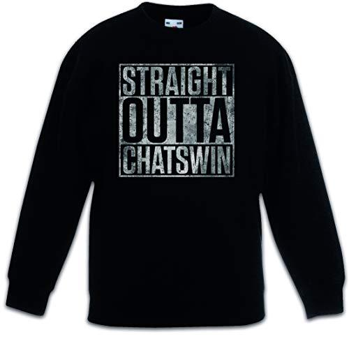 Urban Backwoods Straight Outta Chatswin Kinderen Jongens Meisjes Sweatshirt Pullover Trui Schwarz