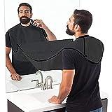 Tablier à barbe - Bavoir à barbe - Cape de barbier avec ventouse -Tablier ramasse-poils pour un rasage facile - Le cadeau idéal pour votre homme barbu