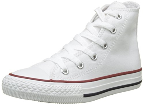 Converse 015860_Blanc optical - Zapatillas de tela para niños, color blanco, talla 33
