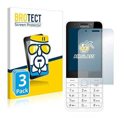 BROTECT Panzerglas Schutzfolie kompatibel mit Nokia 230 (3 Stück) - AirGlass, extrem Kratzfest, Anti-Fingerprint, Ultra-transparent