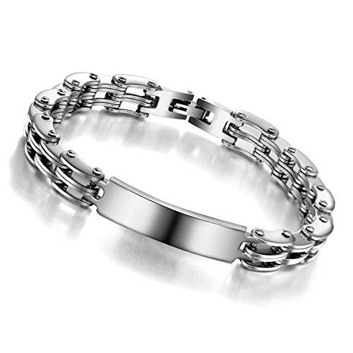 LZHMFashion des Hommes des Bracelets en Acier Inoxydable Bracelets Chaîne De Moto
