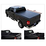 Vekwena 1pc Soft Lock & Roll-up Top Mount Truck Bed Assembly with Rails+Mounting Hardware for 88-00 C10 C K 1500 2500 3500 Pickup 6.5ft Fleetside Bed